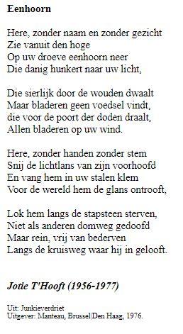 Eenhoorn gedicht